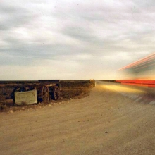 Vanishing Point (it's a tourist coach at speed on the Nullarbor