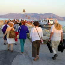 Heading to the boats for our trip back to Hydra.