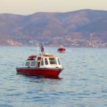 One of the Hydra Water Taxis