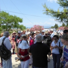 Assembling for the entry to the Korinthos museum