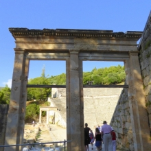 Entry to the ancient theatre of EPIDAURUS