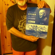 Yeah, me and the prized poster - well, I'm very proud that my name is on it.