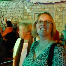 Not a good shot, but the only one we have of Ann and her mum at the event