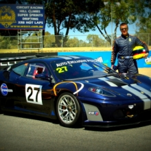 Behnam Bordbar and his Ferrari 430 (GT3 Spec)