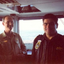 Cpt Gallagher and Vine De Pietro - Vince was Commander of Stirling Naval Base.